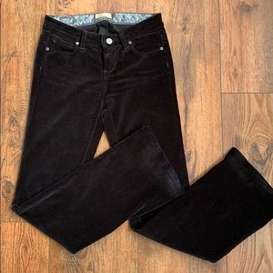Paige Hollywood Hills Black Velvet Jeans